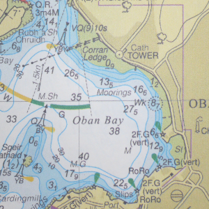 Nautical chart of Oban harbour