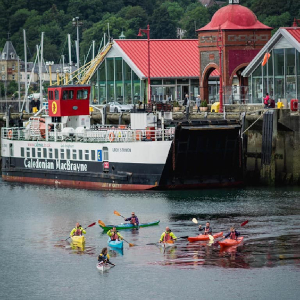 Sea Kayakers in Oban Harbour