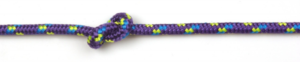 Purple deckline with yellow and blue fleck