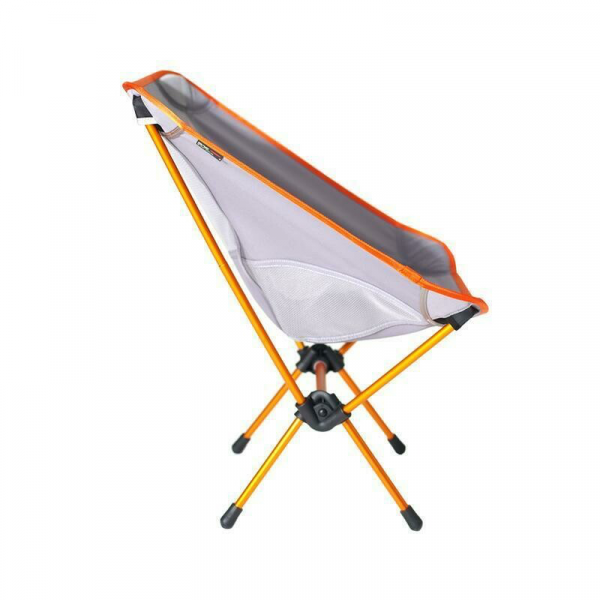 Helinox Chair One in grey and orange side view