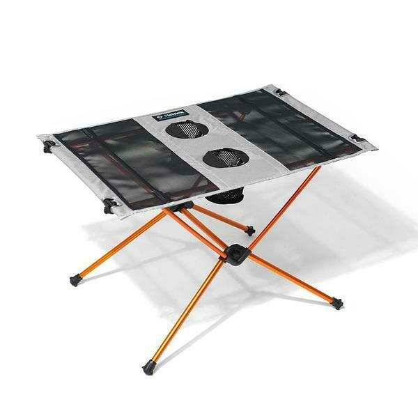 Helinox Table One in orange and grey