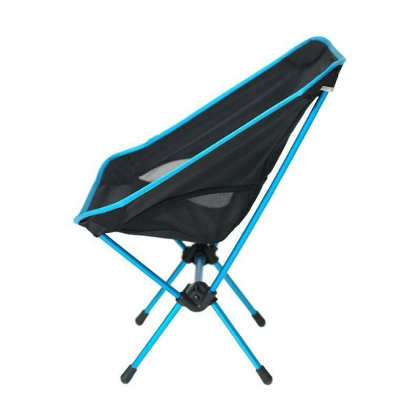 Helinox Chair one in black and blue side view