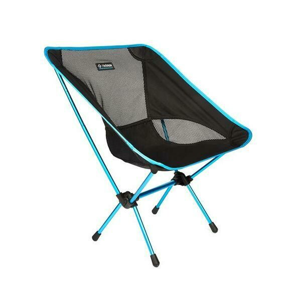 Helinox Chair one in black and blue