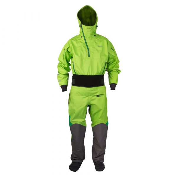 NRS Navigator drysuit seen from the front
