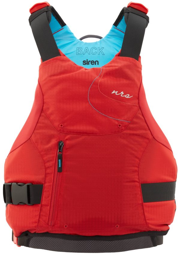 NRS Siren women's PFD in red