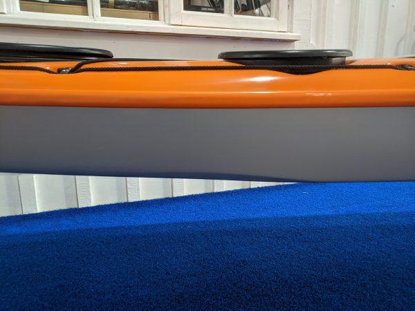 Close up of Northshore Voyager hull shape