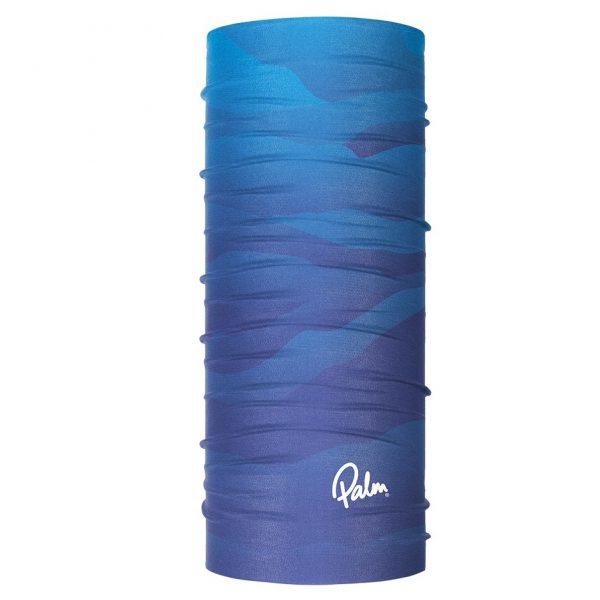 Palm Neck scarf in Ocean blue colour