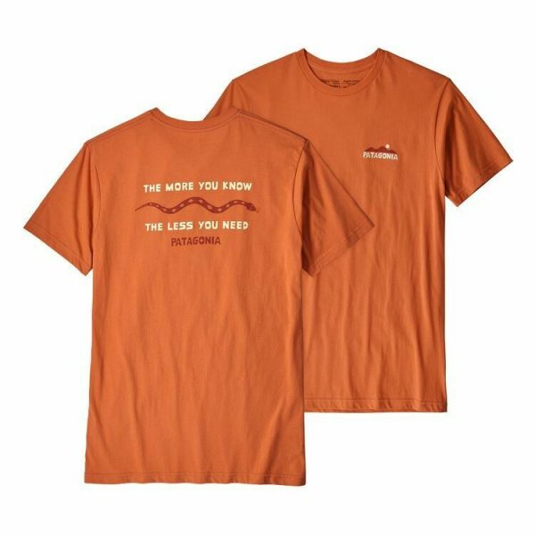 Patagonia The Less you Need t-shirt in orange