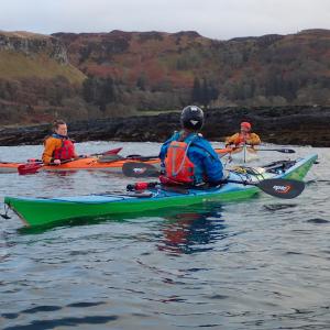 Sea Kayak Coach talking to students