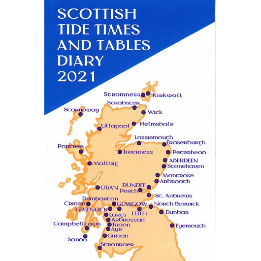 Front cover of Scottish Tide Tables 2021