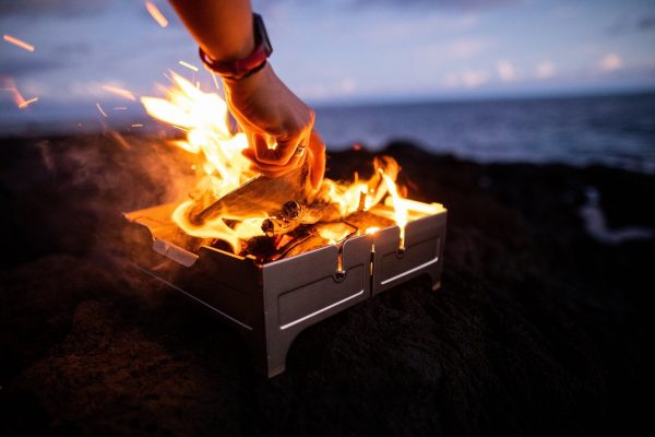 Fire safe wth fire on beach