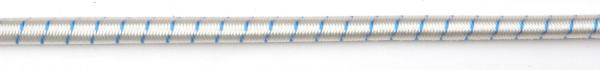 White deck bungee with blue flecks