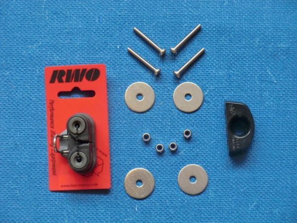 Components of towline deck fitting kit