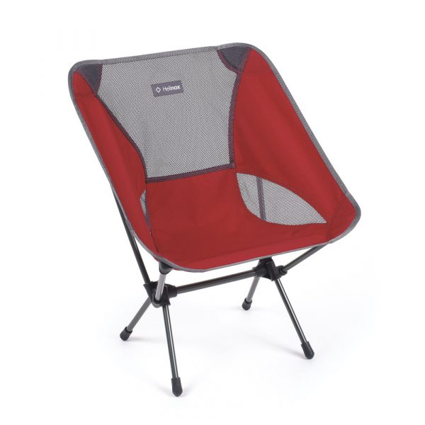 Helinox Chair One in Scarlet and Iron Front View