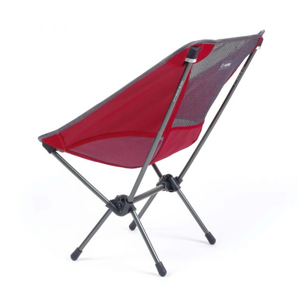 Helinox Chair One in Scarlet and Iron Rear View