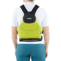 NRS Ninja Buoyancy Aid Lime Rear View Model