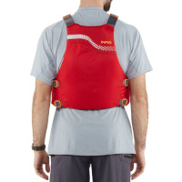 NRS Vista Buoyancy Aid Red Back View Model