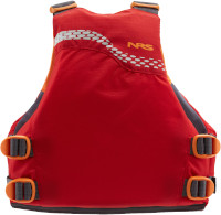 NRS Vista Youth Buoyancy Aid Red Rear View
