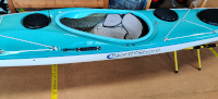 Valley Voyager 16.10 Kevlar Pacific Blue to Turquoise Fade Kayak Cockpit View