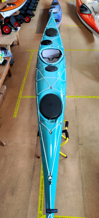 Valley Voyager 16.10 Kevlar Pacific Blue to Turquoise Fade Kayak Full View